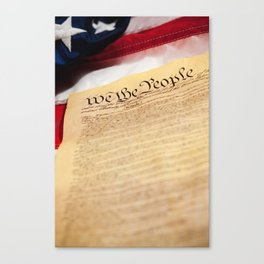 "Constitution: Tight Focus on ""We the People"" Canvas Print"