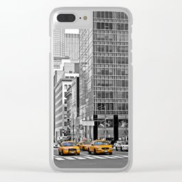 NYC Yellow Cabs NYPD - USA Clear iPhone Case
