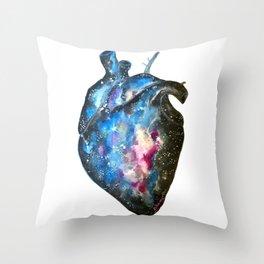 Galaxy heart Throw Pillow