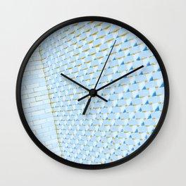 Eye Play in Light Blue Wall Clock