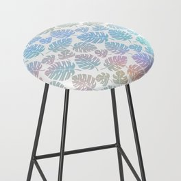 Pastel Tropical Leaves Bar Stool
