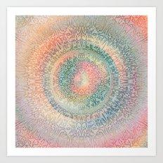 Pastel Mandala Art Print
