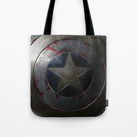 shield Tote Bags featuring SHIELD by Bilqis