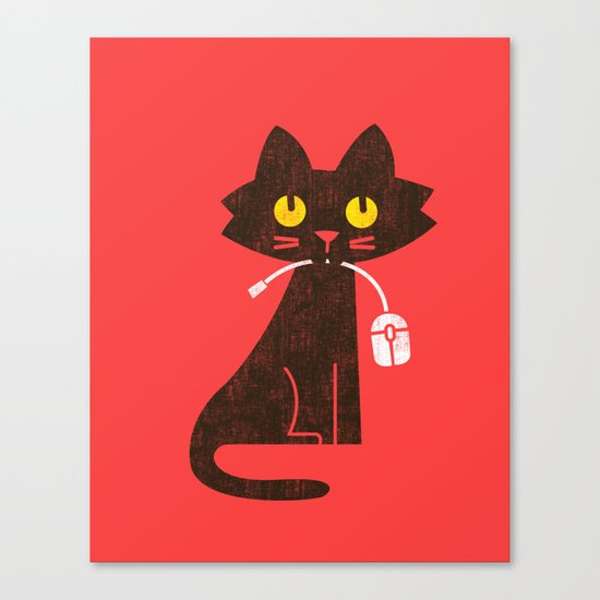 Fitz - Hungry hungry cat (and unfortunate mouse) Canvas Print