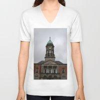 dublin V-neck T-shirts featuring Dublin Castel by Chalene Malekoff
