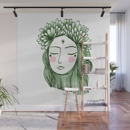 Miss Aster Wall Mural