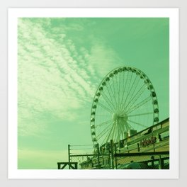 THE GREAT WHEEL AND SKY Art Print