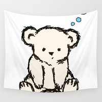 teddy bear Wall Tapestries featuring Teddy by RaJess
