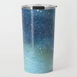 Galaxy Watercolor Aurora Borealis Painting Travel Mug