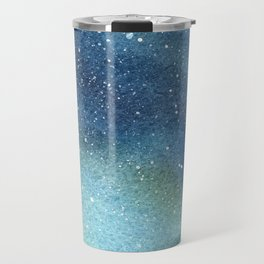 Galaxy Watercolor Aurora Borealis Painting Travel Mug