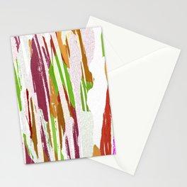 Abstract Rainbow Splash Design Stationery Cards