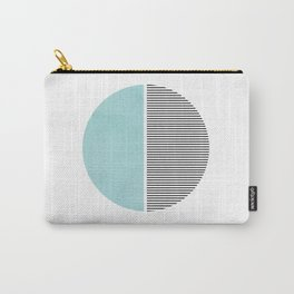 Circle in Aqua Carry-All Pouch