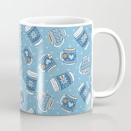 Cozy Blue Mugs Coffee Mug
