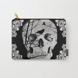 Gothic Skull Crow Rose A353 Carry-All Pouch