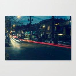 Marine Drive Light Streaks Canvas Print