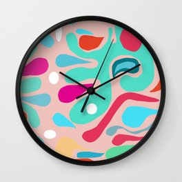Summer Dream in Green Wall Clock