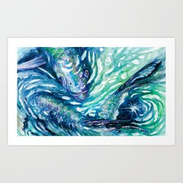 Watercolor Tarpon Art Print