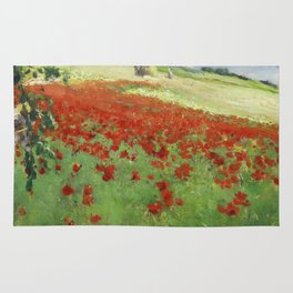 William Blair Bruce - Landscape With Poppies. Rug