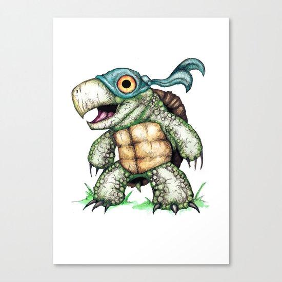 Teenage Mutant Snapping Turtle ; Leonidas Canvas Print