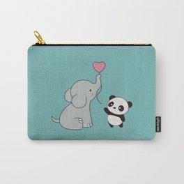 Kawaii Cute Elephant and Panda Carry-All Pouch