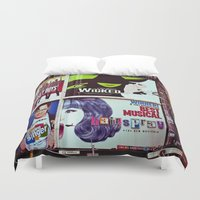 broadway Duvet Covers featuring New York City Broadway Signs by Eye Shutter to Think Photography