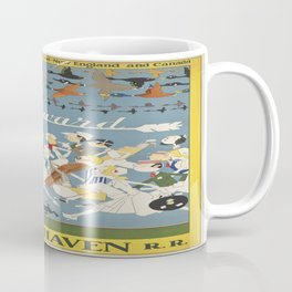 Vintage poster - New Haven Railroad Coffee Mug