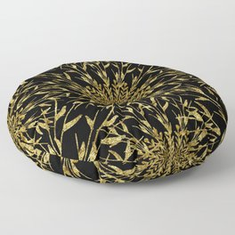 Black Gold Glam Nature Floor Pillow