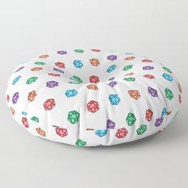 D20 multiple dice non-linear Floor Pillow