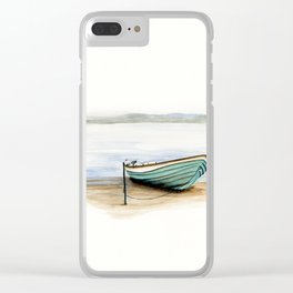 Rowboat, beach, marine, seashore boat Clear iPhone Case