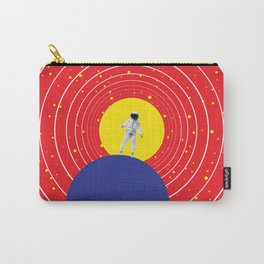 Lone Astronaut on an Atomic Mission - Red Carry-All Pouch