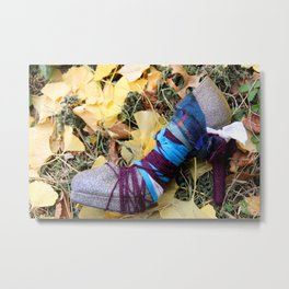 Stiletto Cocoon Among Ginko Leaves Metal Print