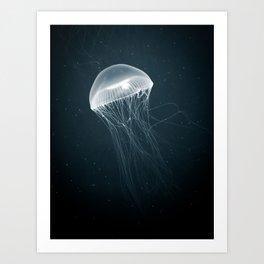 Jellyfish Glow Art Print