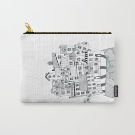 THE ISLAND b/w Carry-All Pouch