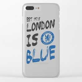 Chelsea FC The Blues Clear iPhone Case