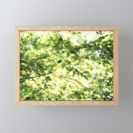 Bright Day-green leaves Framed Mini Art Print