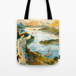 Furness Railway and Lady of the Lake Tote Bag