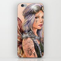 engineer iPhone & iPod Skins featuring Engineer Fairy by Mortimer Sparrow