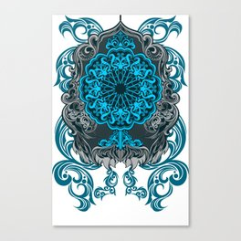 MIRROR BLUE ARABIAN STYLE Canvas Print