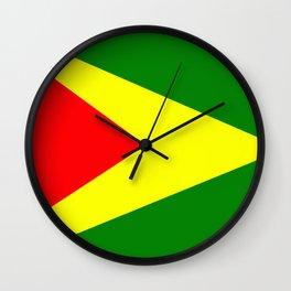 Flag of Guyana Wall Clock
