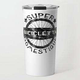 Bicicletta Super Domestique Retro Bike Bicycling Distressed Travel Mug