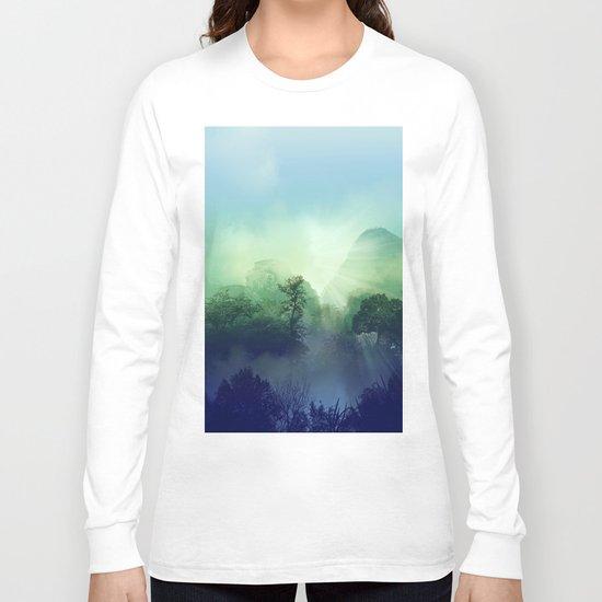 tropical green forest Long Sleeve T-shirt
