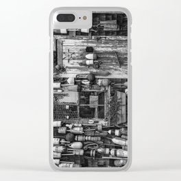 B&W Fishing Shack Clear iPhone Case