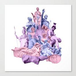 Statue Collage Canvas Print