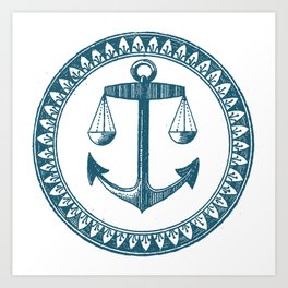 Anchor & Scales Art Print