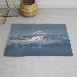 Mount Adams Mt Rainier - PNW Mountains Rug