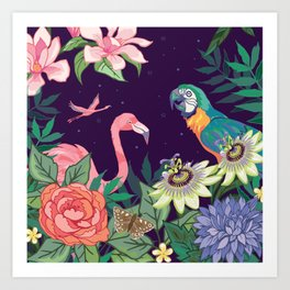 Botanical Zoo Garden Art Print