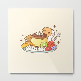 Guinea pig with Japanese Pudding, Bubu and Moonch  Metal Print