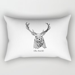 Oh, Buck! Rectangular Pillow