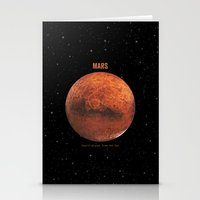 mars Stationery Cards featuring Mars by Terry Fan