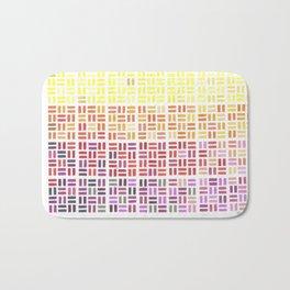 Pencil Mosaic #1 Bath Mat